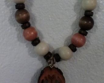 Walnut slice necklaces