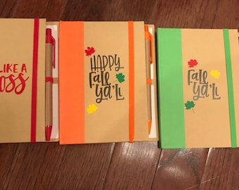 Blank colorful notebooks