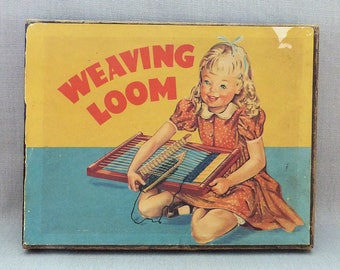 Vintage 1950's Original WEAVING LOOM Childrens Kids Girls Boxed with Instructions and Patterns