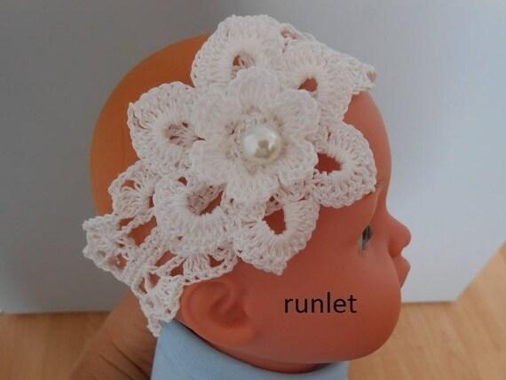 bandeau bebe dentelle fleur crochet cadeau bebe bandeau. Black Bedroom Furniture Sets. Home Design Ideas