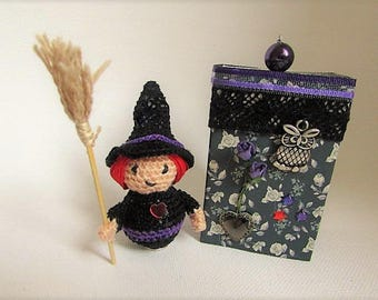witch in hook to hang in its gift box