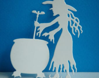 Witch cut that makes his potion creation white drawing paper