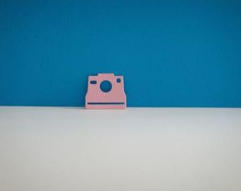 Cut pink polaroid camera
