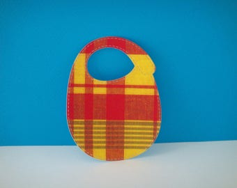 Cut for scrapbooking and card madras baby bib