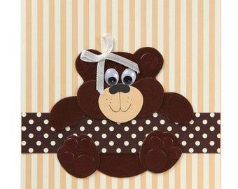 Birthday/baby bear card