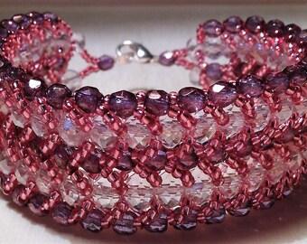Flat double spiral bracelet
