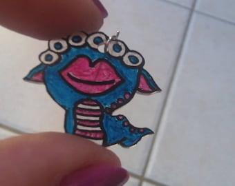 funny Monster earrings