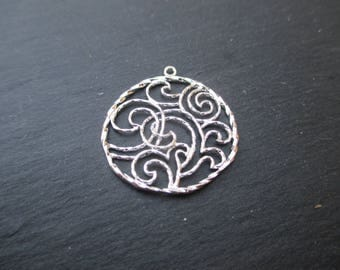 Arabesque necklace 1 26 mm 925 sterling silver wire