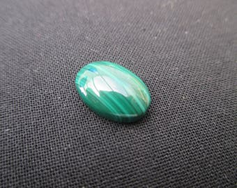 Malachite: 14 * 10 mm cabochon - green gemstone