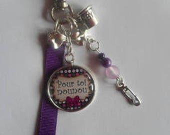 "Bag charm, door keys/nanny/nanny / ""you nanny"" / year end gift/birthday/party/thanks/holiday / Christmas"