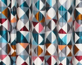 Dancer Thévenon gray geometric pattern fabric