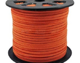 2 yards cord dain 3 mm x 1.5 mm orange