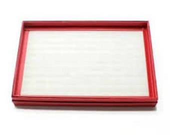 Red Ring tray display raspberry 100 nine rings