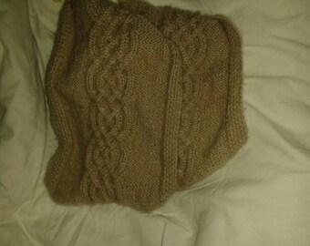 scarf brown beige soft snood