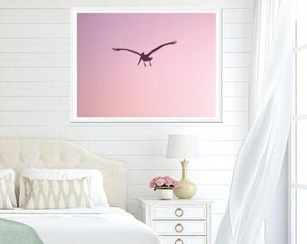 Pink Pelican Print - Pink Room Decor, Digital Download, Pink Art Print, Pink Bedroom Wall Art, Printable Art, Pink Download, Pink Decor