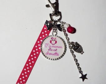 """Key chain / / gift mother's day jewelry gift MOM bag """"my mom she is nice"""""""