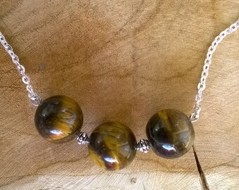 Grade AA Tiger's eye beads necklace