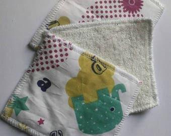 Fancy cotton microeponge baby wipes