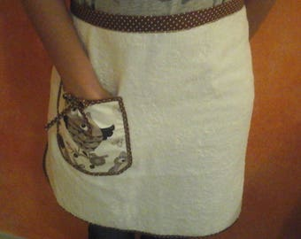 Terry cloth apron with Pocket