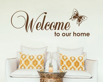 Welcome wall sticker, welcome wall decal decor, welcome wall sticker removable vinyl home wall art [IN007]
