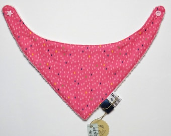 Bandana / bib for baby girl - Bib - Antibavouile - fuchsia - drops