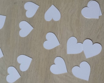 set of 50 heart table confetti