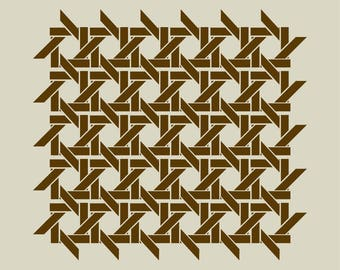 Caning (ref 212) adhesive vinyl stencil