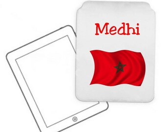 Cover for tablet pc Morocco personalized with name