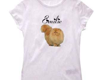 Personalized with name Persian girl t-shirt