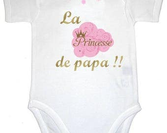 Message Daddy's Princess Bodysuit