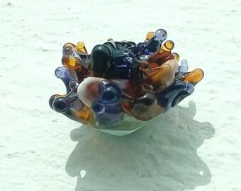 Exotic dahlia flower - handmade Lampwork Glass