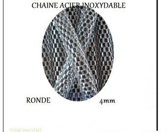 Round 4mm stainless steel chain