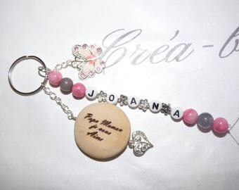 Key ring with engraving