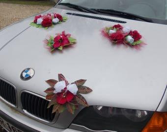 heart shape wedding car wedding decoration all colors