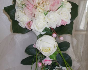 Ivory and pale pink bridal bouquet