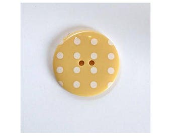 Big buttons 34mm light yellow dots - 001129