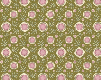 Sunflower green Tilda fabric