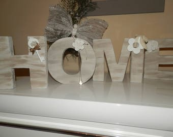 "For wooden word ""HOME"""