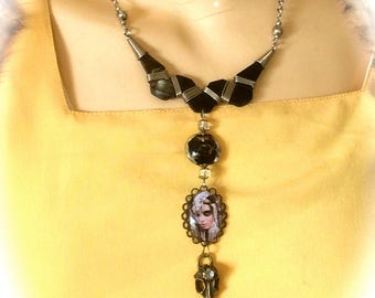 Necklace creator spirit art deco vintage woman from elsewhere