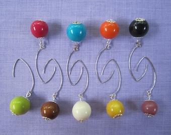 Vegetable ivory earrings many colors
