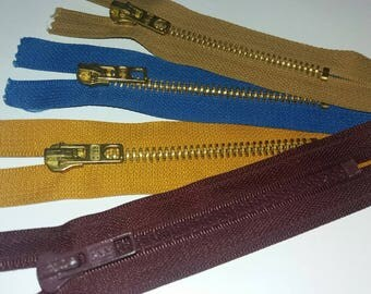 set of 4 zips are simple slider