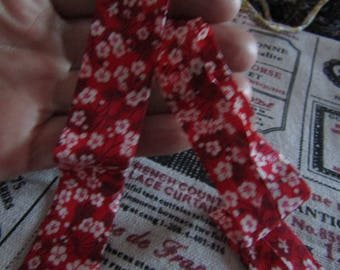 50cm red and white liberty bias 23mm wide