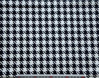 "Cotton fabric ""HOUNDS"" VERA BRADLEY shades black and white pattern"