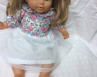 Doll clothes, skirt in tulle and lace doll 36 cm