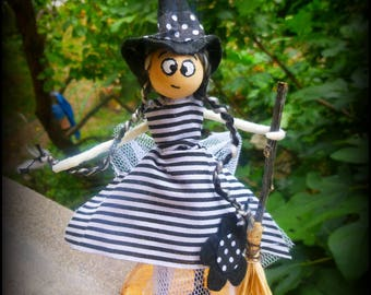 Good witch with broom: personalized fairy creation