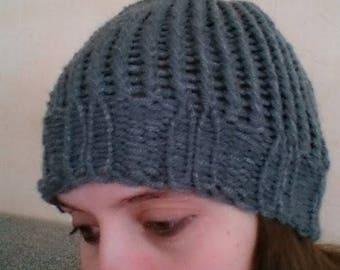 Snood + dark gray adult Hat