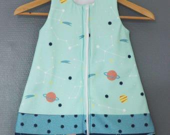 Sleeping bag infant fleece constellation pattern