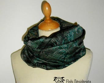 "Infinity scarf, snood""green forest""tubular scarf woman very original"