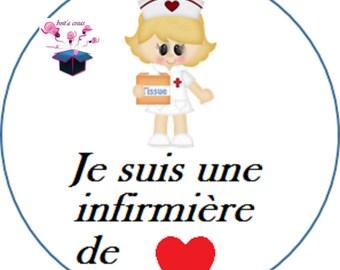 1 cabochon clear 18 mm nurse theme