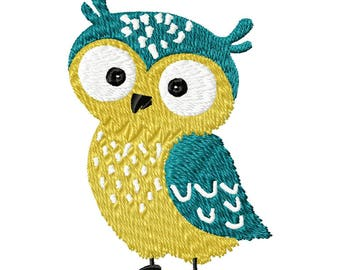 Little Owl- embroidery design-kids design-little animals-embroidery patche-applique.